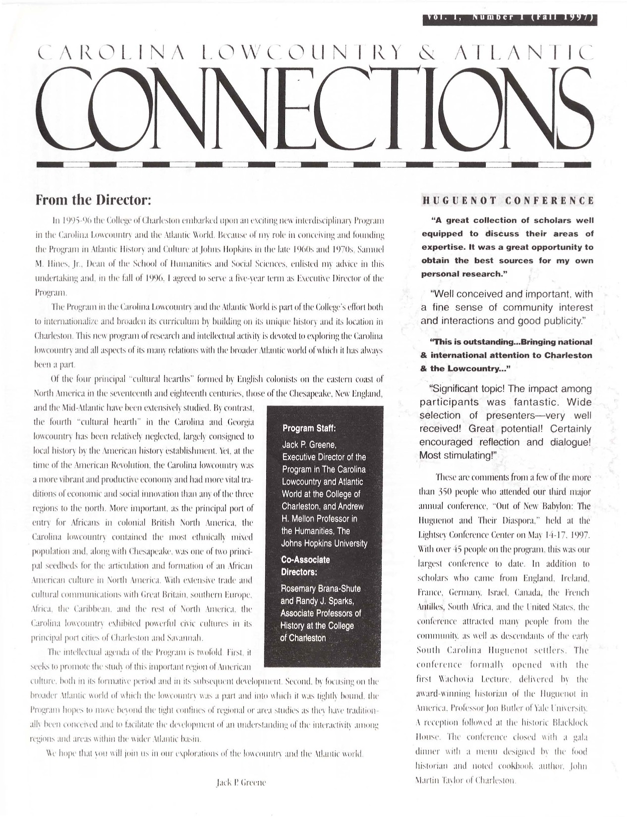 CLAW Newsletter Volume 01, Number 1
