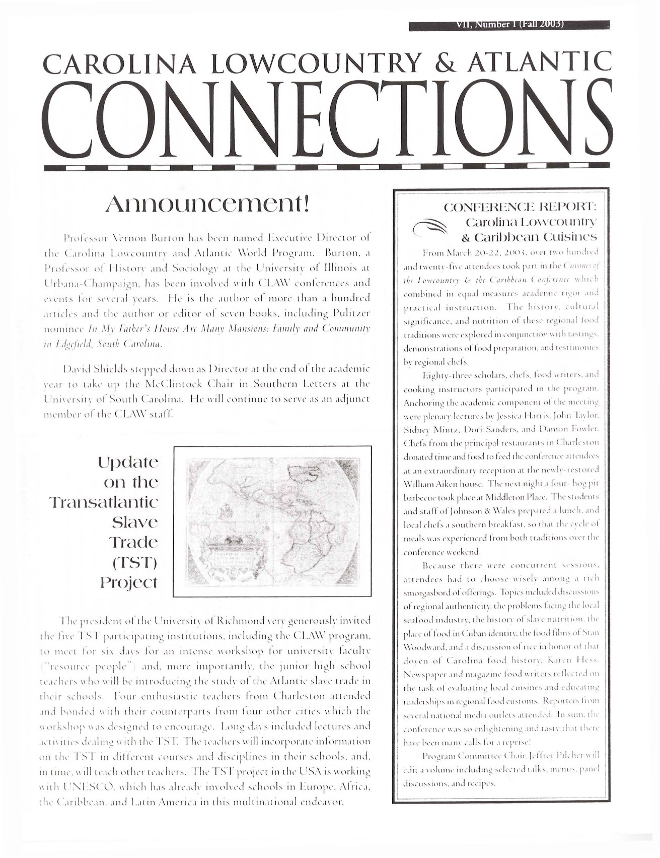 CLAW Newsletter Volume 07, Number 1
