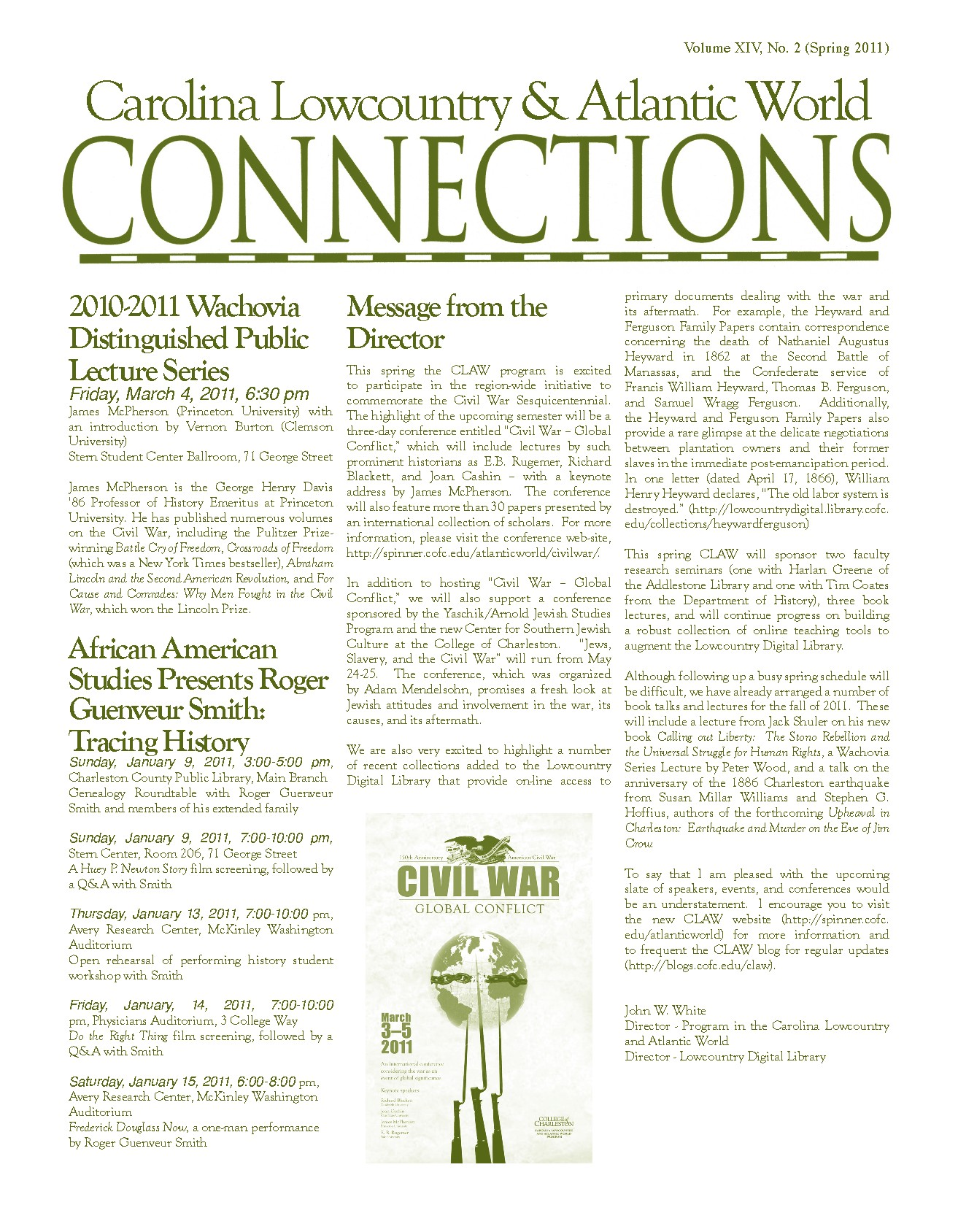 CLAW Newsletter Volume 14, Number 1