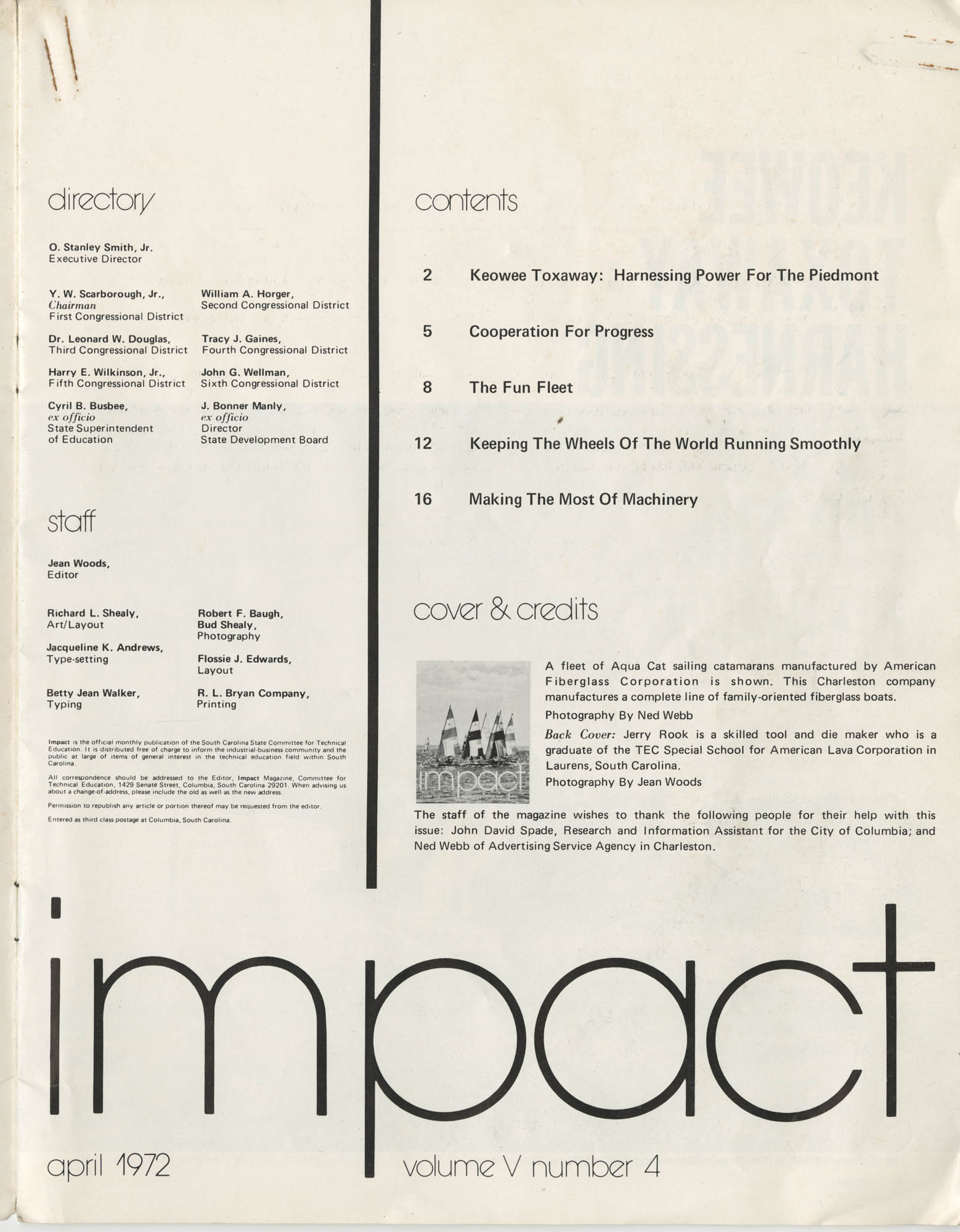 Impact: Technical Education In South Carolina, Page 1