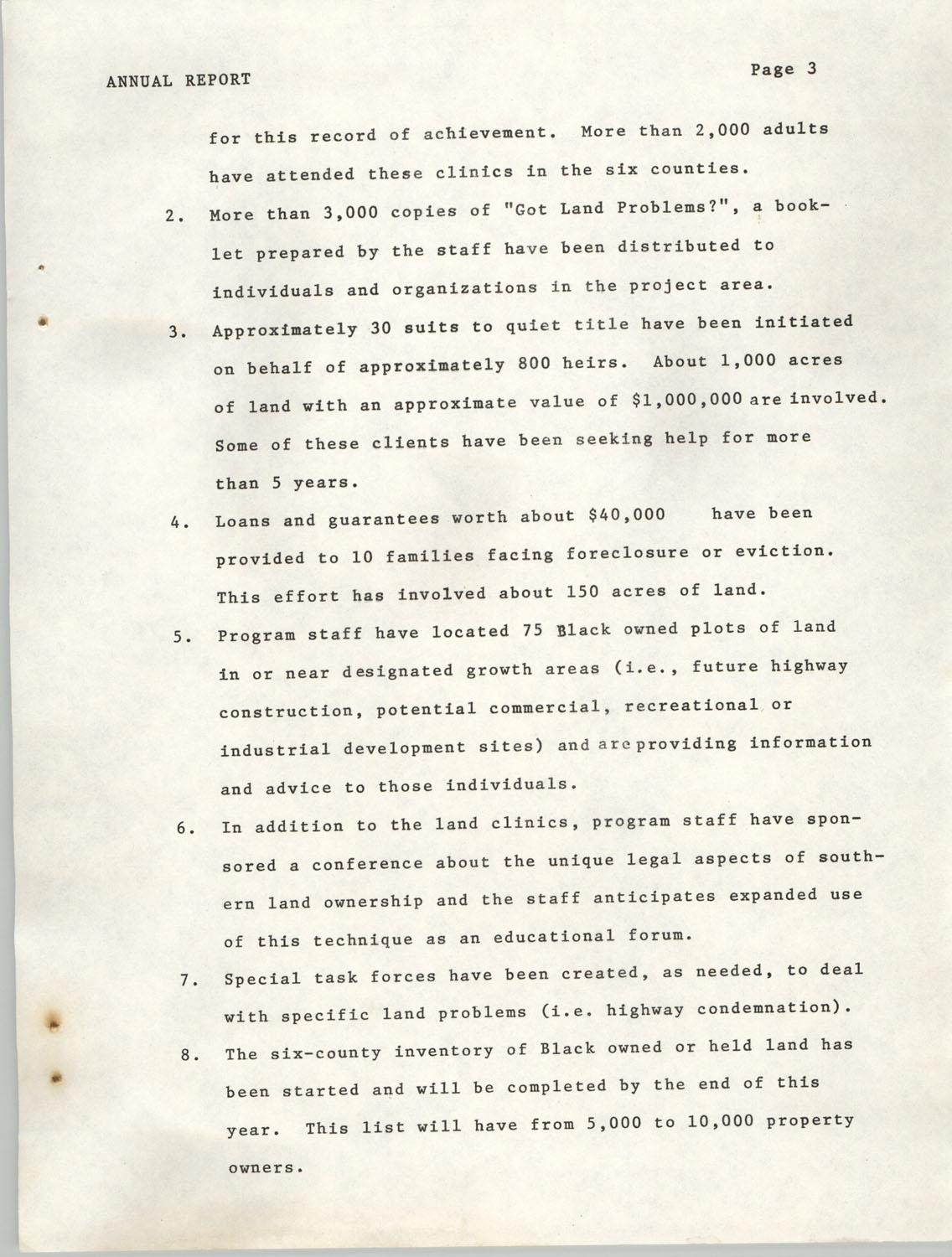 Annual Report, Penn Community Services, 1974, Page 3