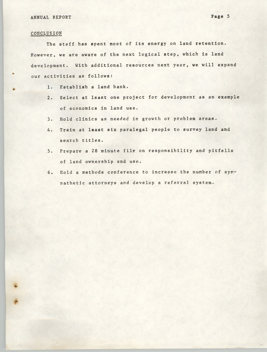 Annual Report, Penn Community Services, 1974, Page 5