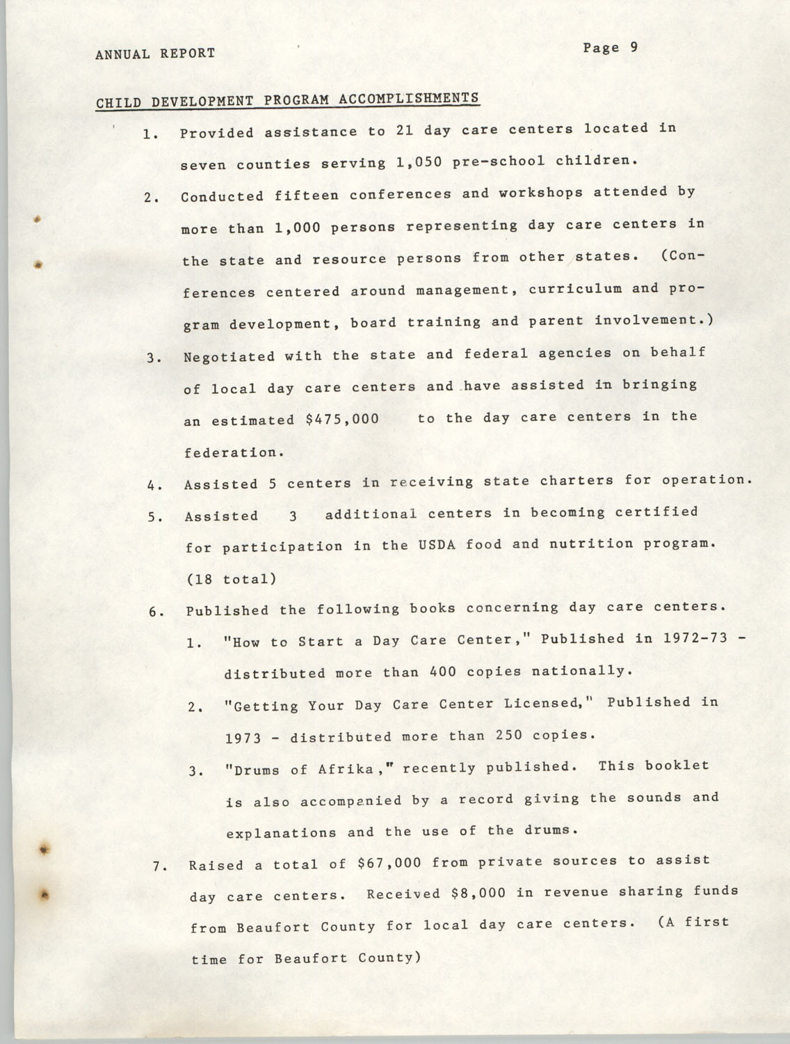 Annual Report, Penn Community Services, 1974, Page 9