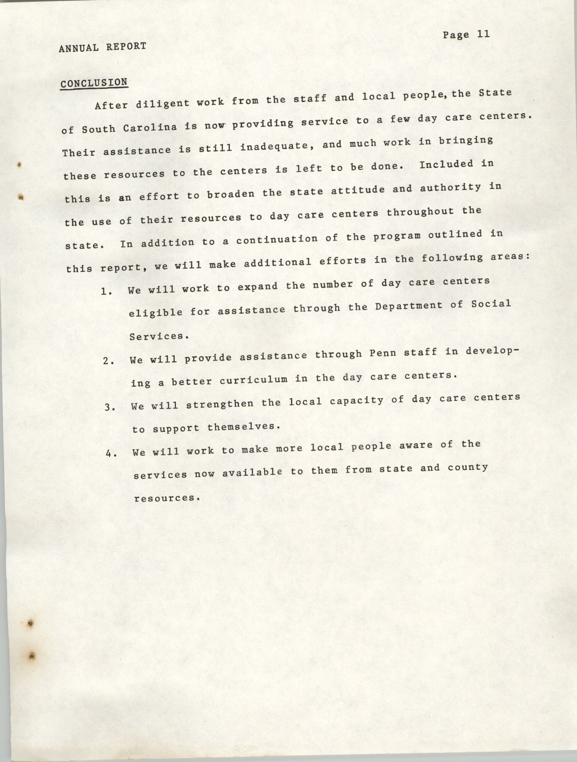 Annual Report, Penn Community Services, 1974, Page 11