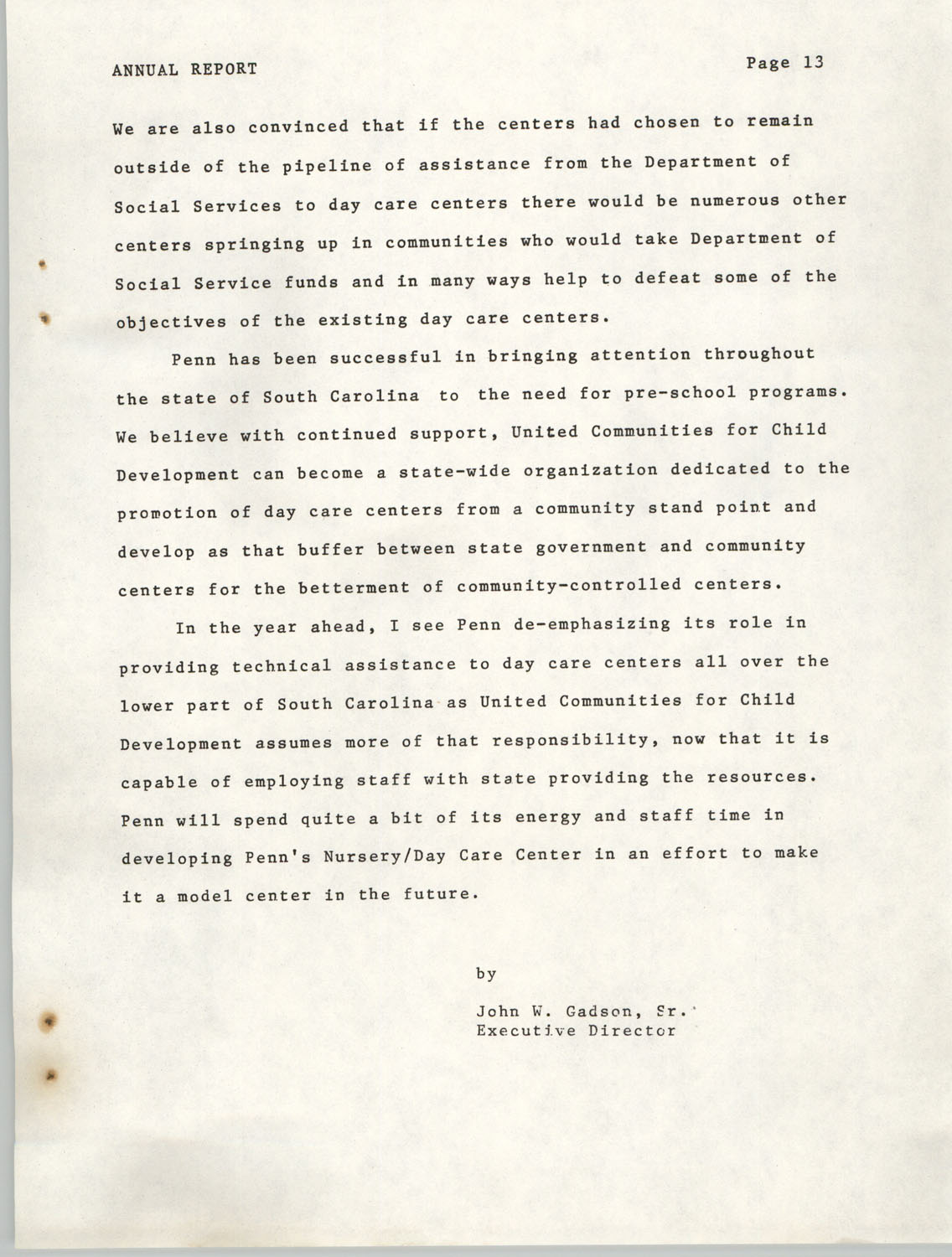 Annual Report, Penn Community Services, 1974, Page 13