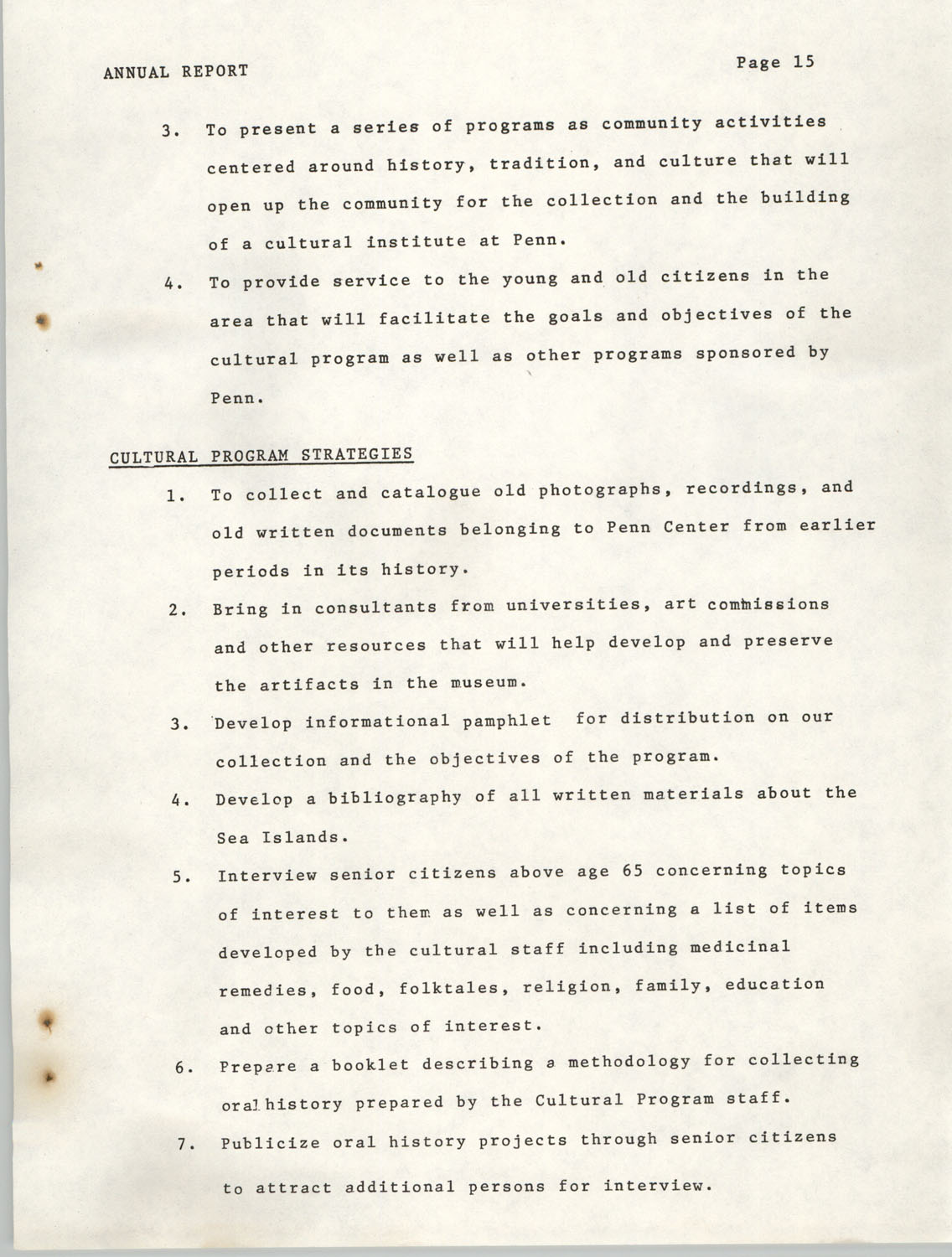 Annual Report, Penn Community Services, 1974, Page 15