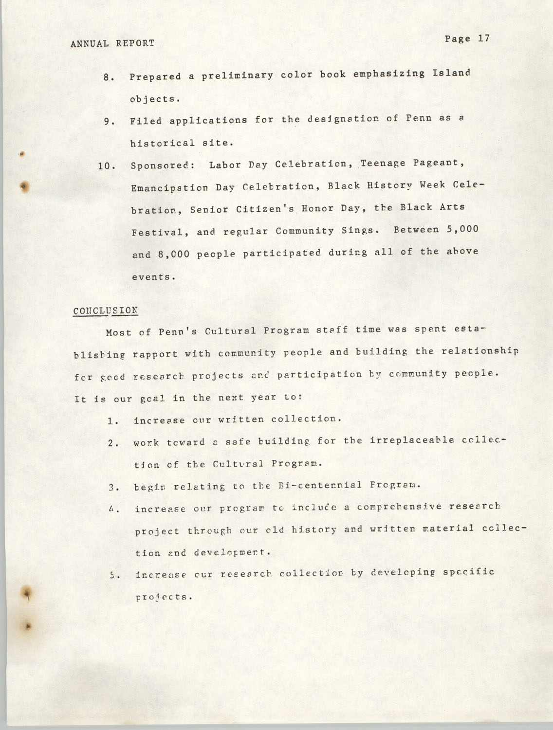 Annual Report, Penn Community Services, 1974, Page 17