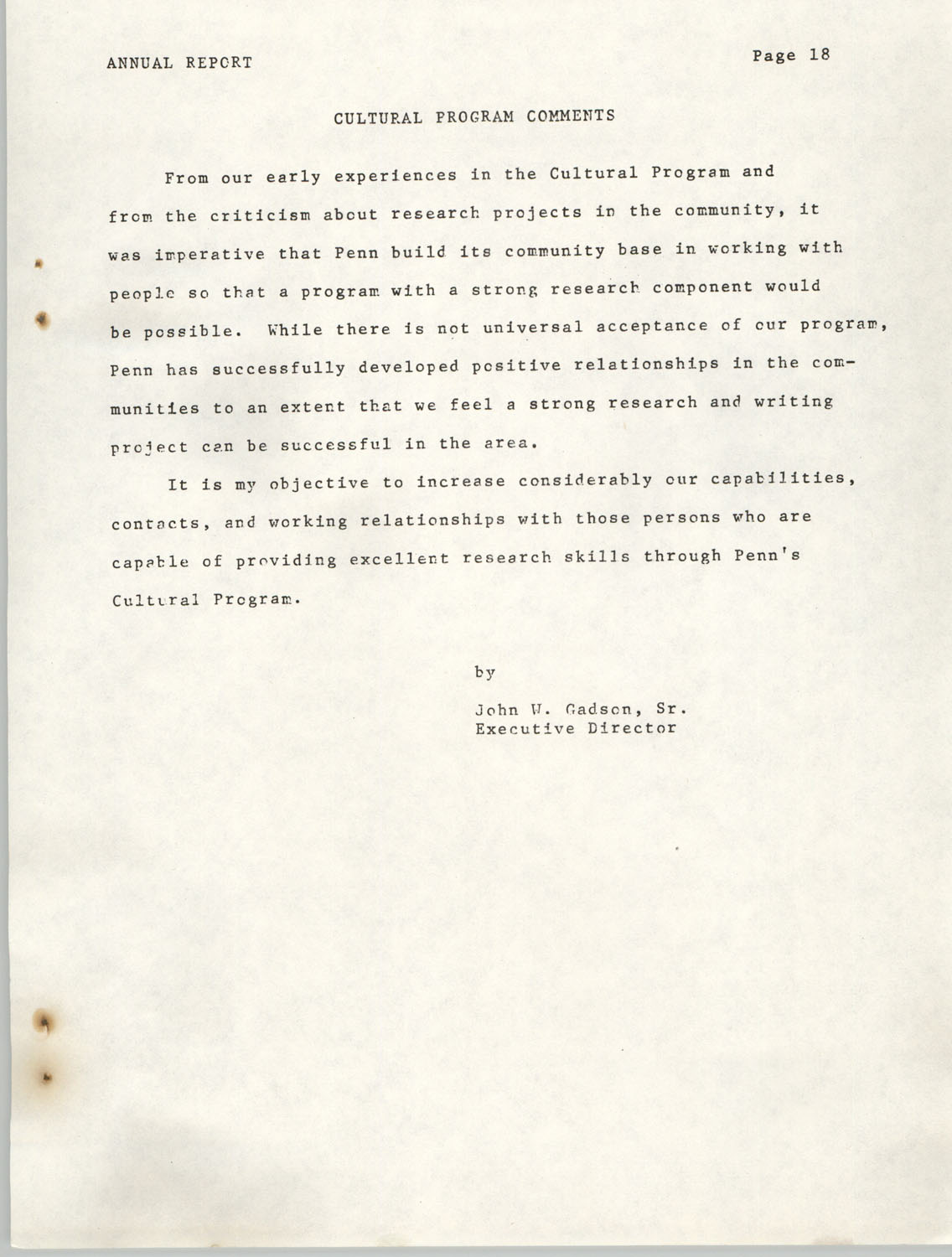 Annual Report, Penn Community Services, 1974, Page 18