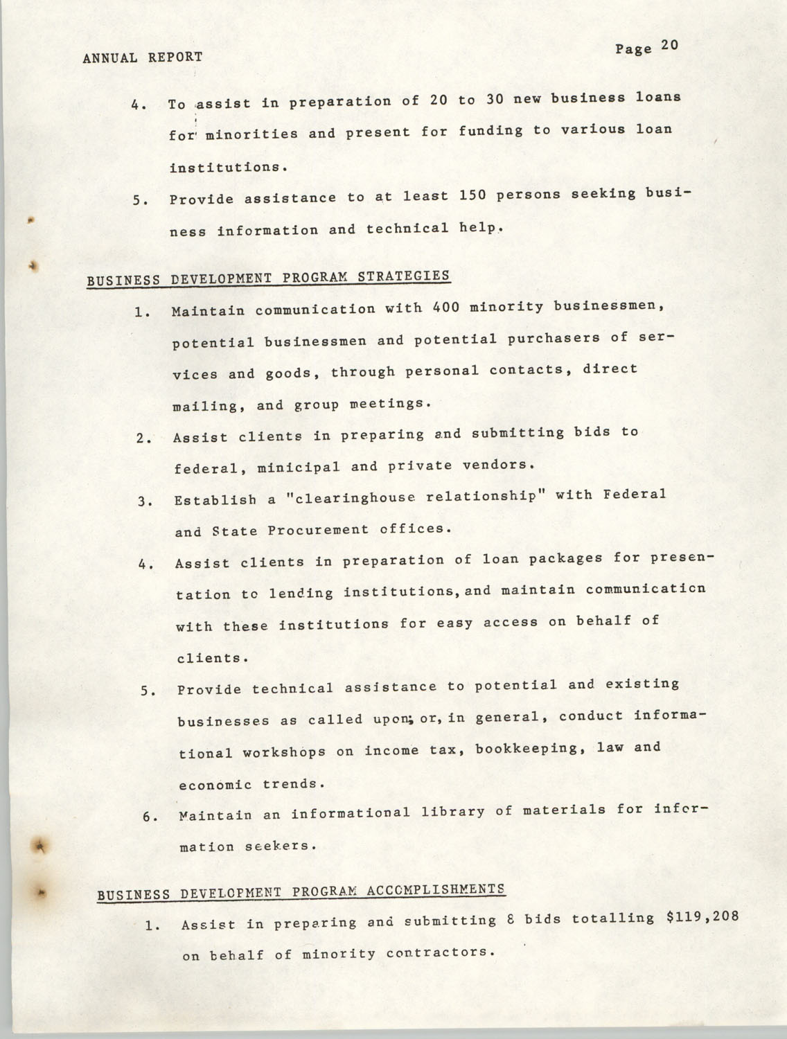 Annual Report, Penn Community Services, 1974, Page 20