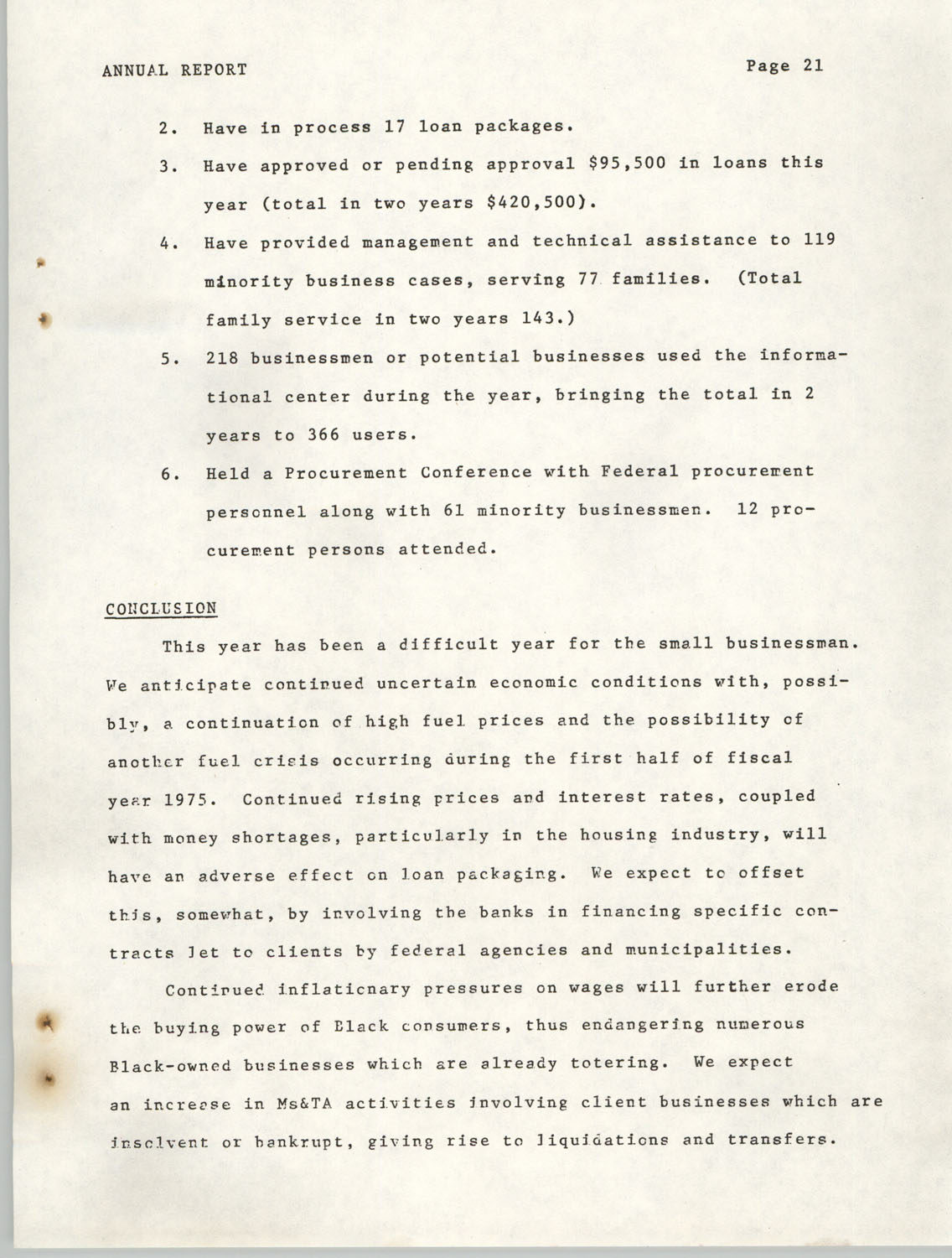 Annual Report, Penn Community Services, 1974, Page 21