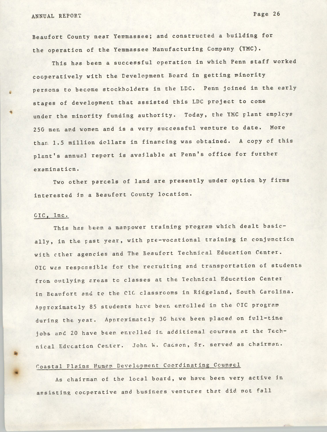 Annual Report, Penn Community Services, 1974, Page 26