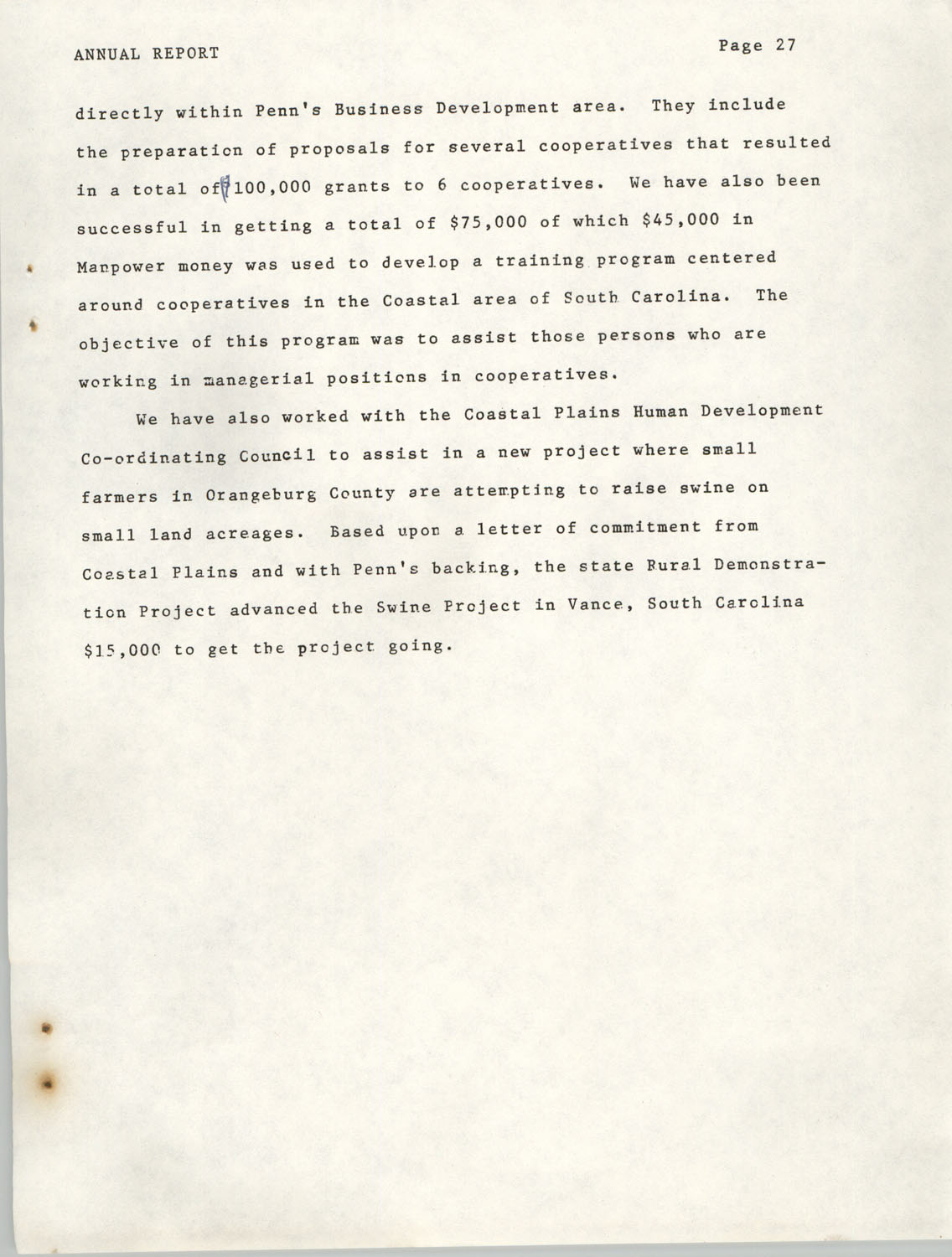 Annual Report, Penn Community Services, 1974, Page 27