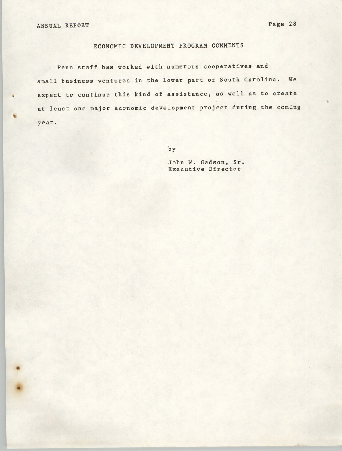 Annual Report, Penn Community Services, 1974, Page 28