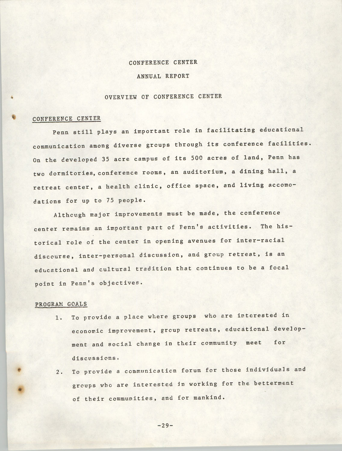 Annual Report, Penn Community Services, 1974, Page 29