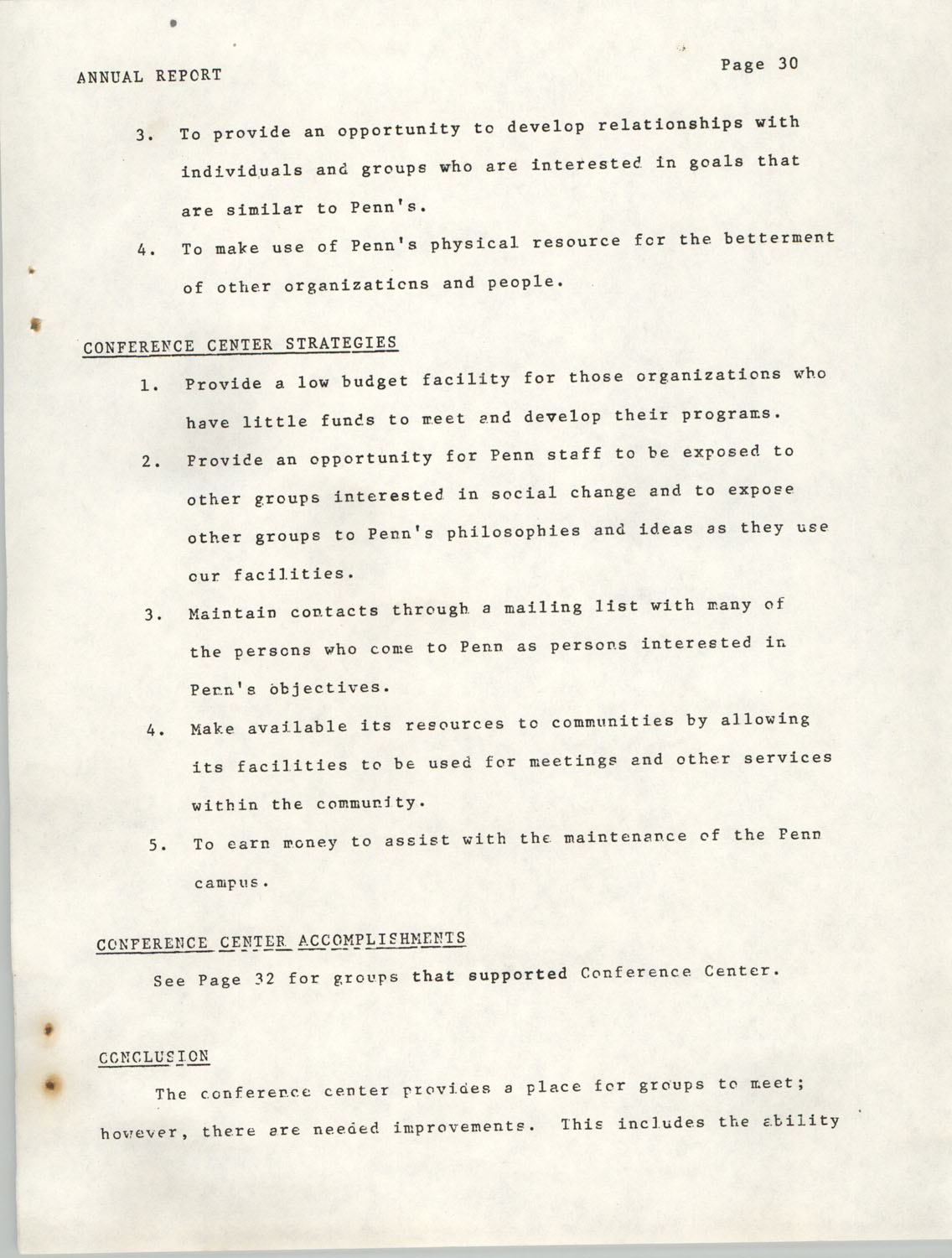 Annual Report, Penn Community Services, 1974, Page 30