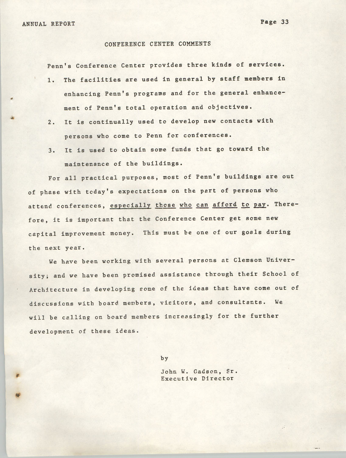 Annual Report, Penn Community Services, 1974, Page 33