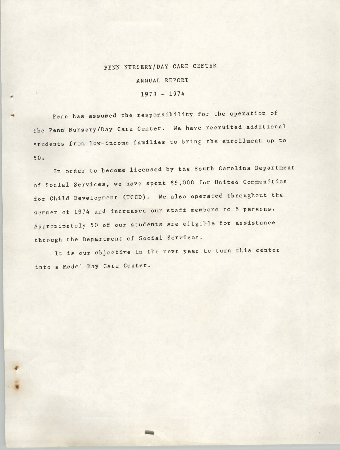 Annual Report, Penn Community Services, 1974, Page 34