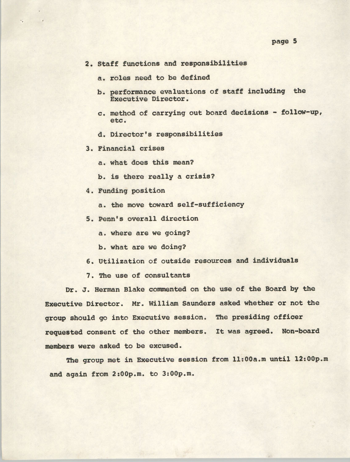 Minutes, Penn Community Services, August 17, 1974, Page 5