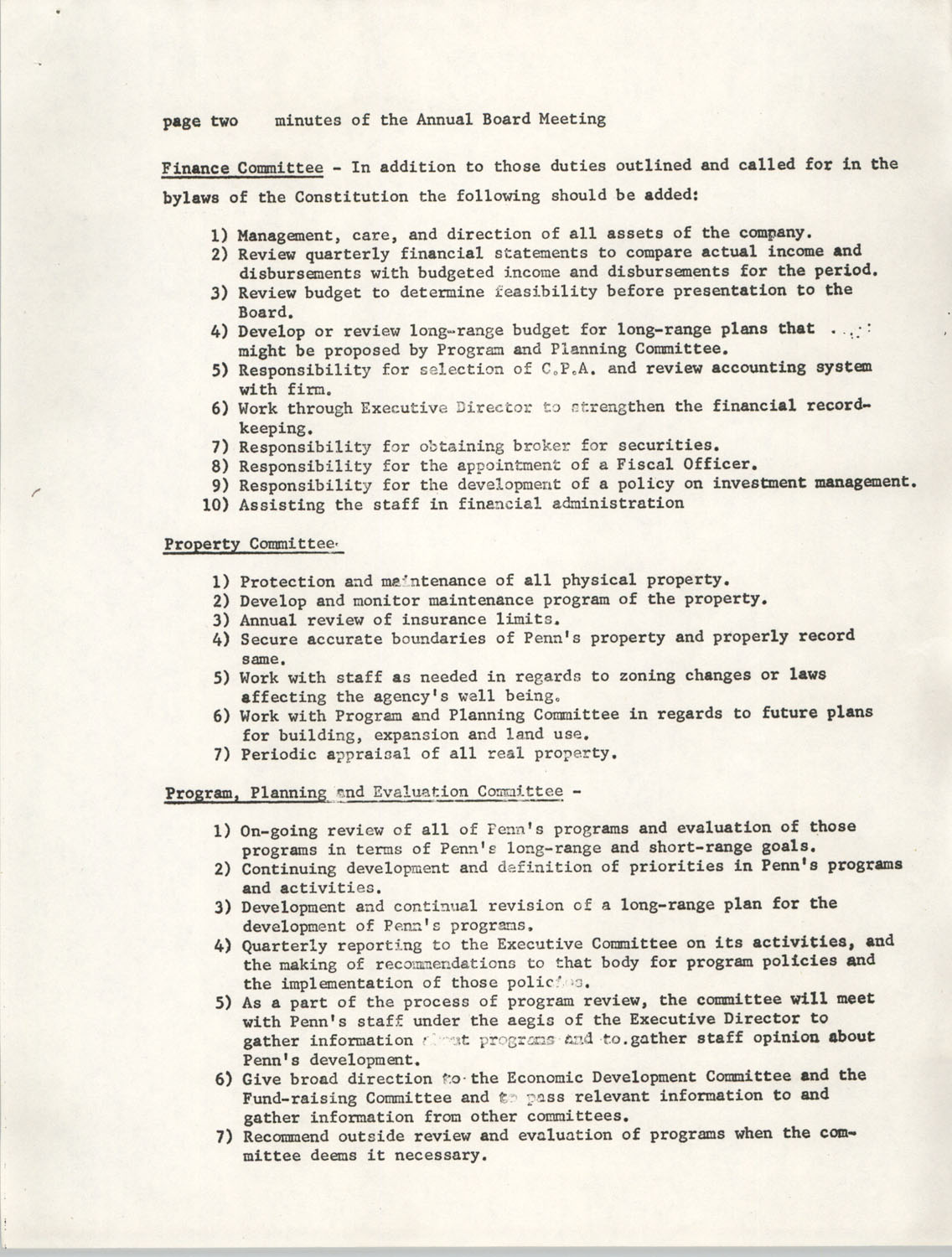 Minutes, Penn Community Services, September 20-21, 1974, Page 2