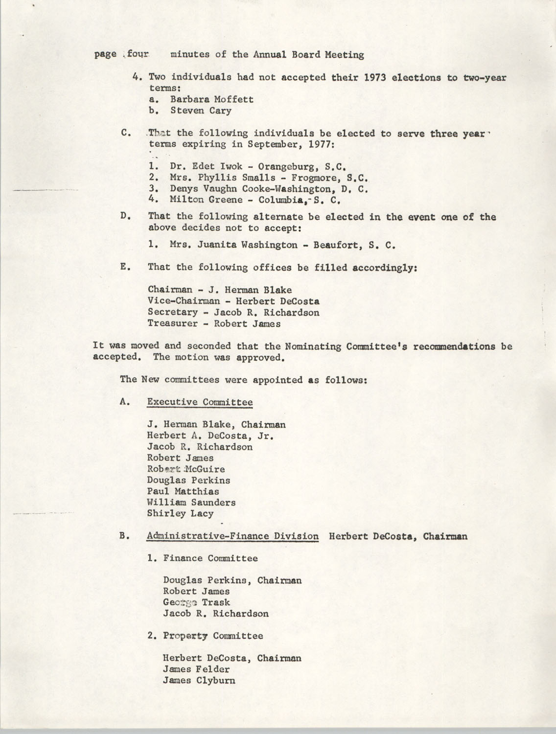 Minutes, Penn Community Services, September 20-21, 1974, Page 4
