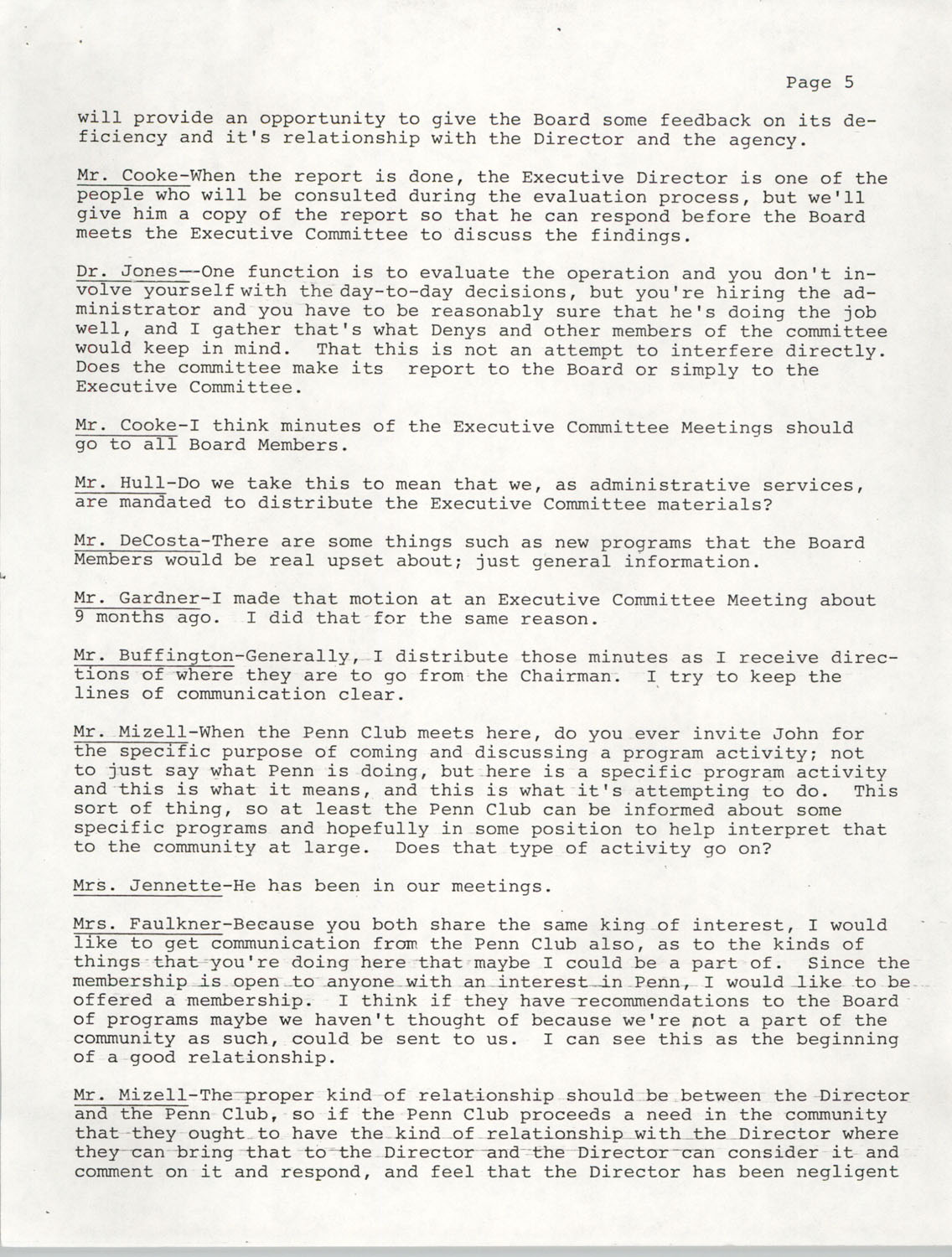 Minutes, Annual Board Meeting, Penn Community Services, October 22, 1977, Page 5
