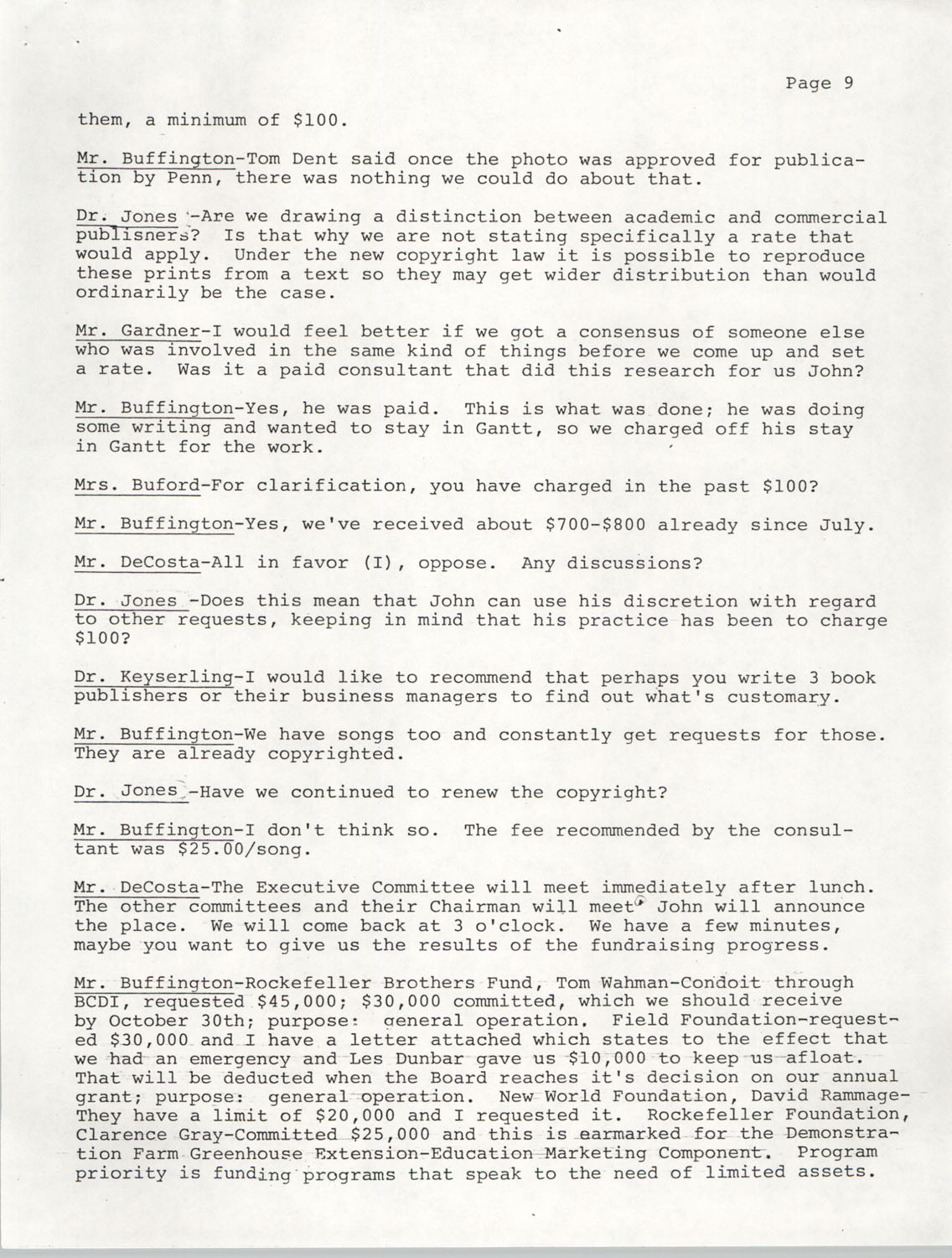 Minutes, Annual Board Meeting, Penn Community Services, October 22, 1977, Page 9