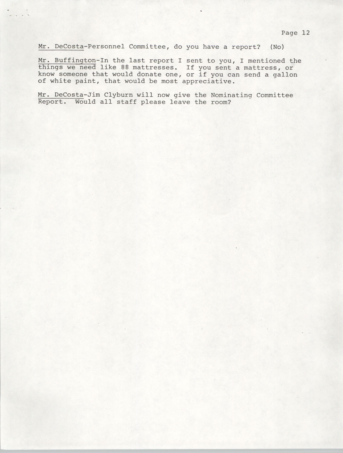 Minutes, Annual Board Meeting, Penn Community Services, October 22, 1977, Page 12