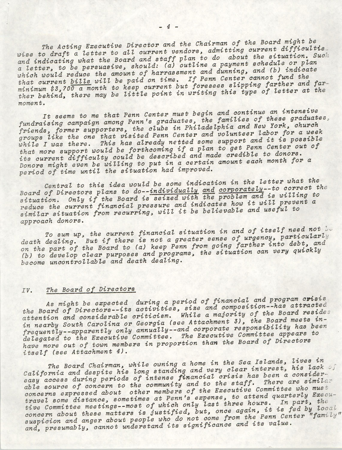 Planning and Management Assistance Project Report, Penn Community Services, April 1978, Page 4