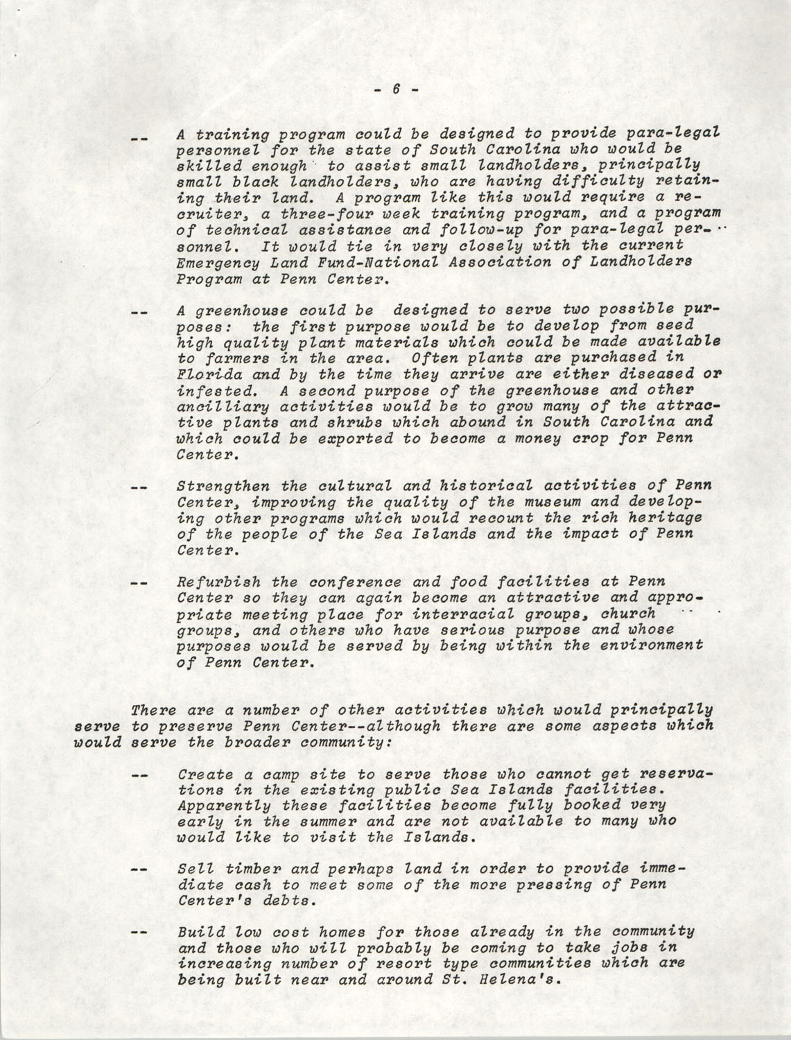 Planning and Management Assistance Project Report, Penn Community Services, April 1978, Page 6