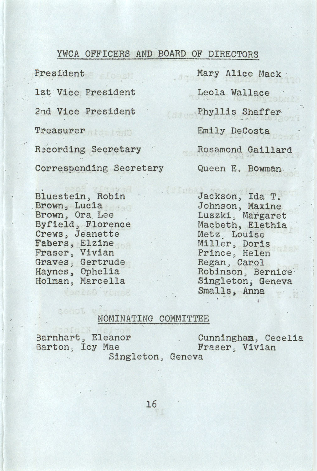 YWCA Spring 1975 Schedule, Page 16