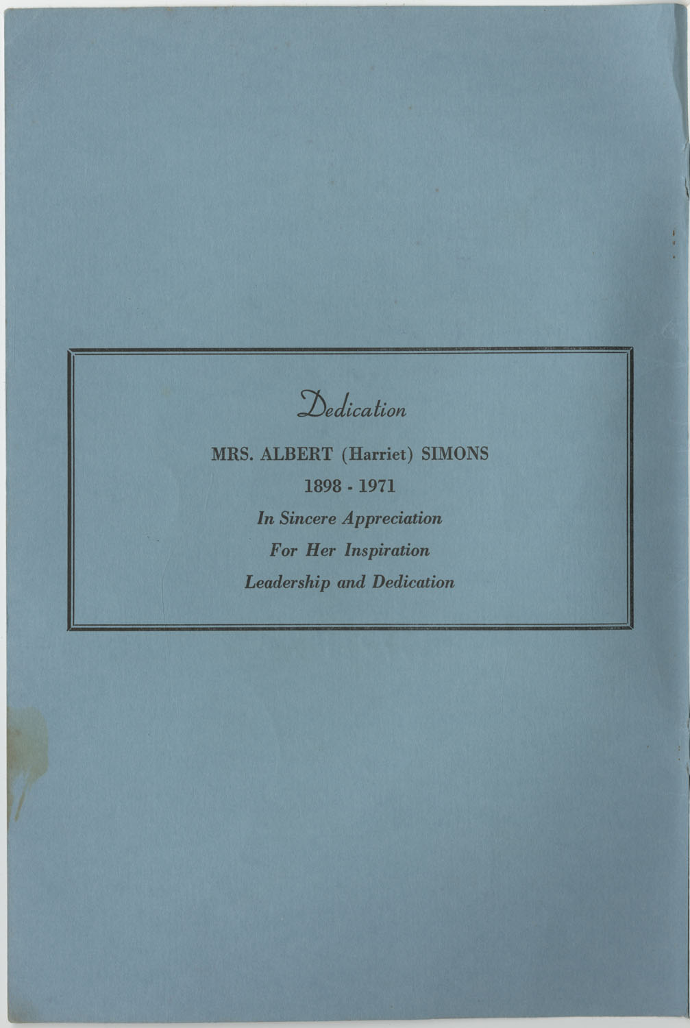 Directory of Public Officials, 1972-1973, Front Cover Interior