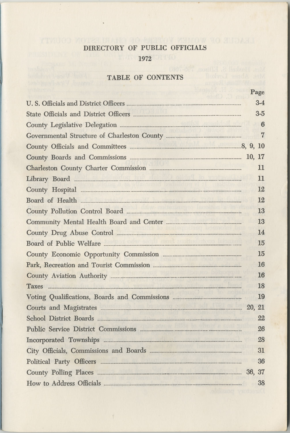 Directory of Public Officials, 1972-1973, Page 1