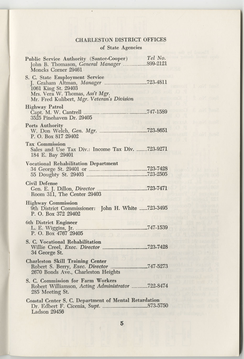 Directory of Public Officials, 1972-1973, Page 5