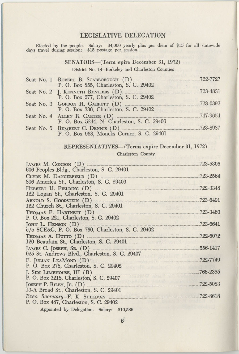 Directory of Public Officials, 1972-1973, Page 6
