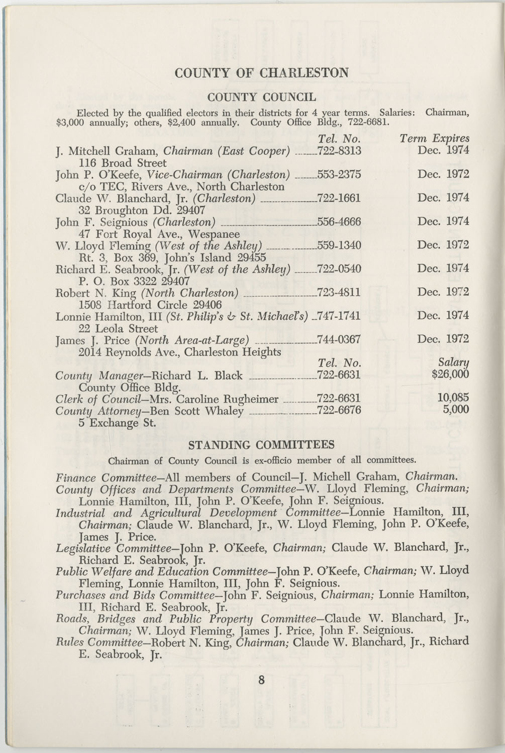 Directory of Public Officials, 1972-1973, Page 8