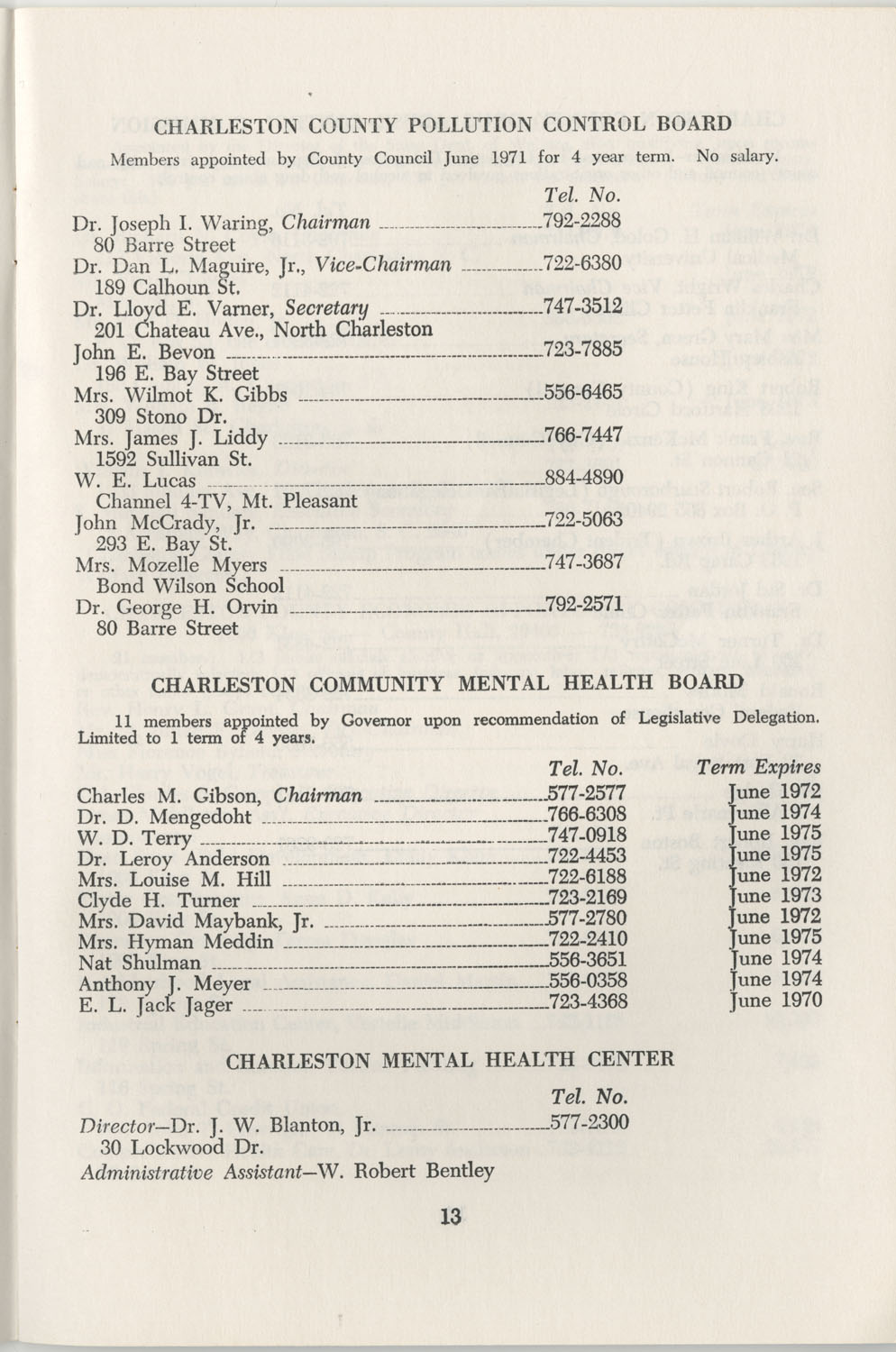 Directory of Public Officials, 1972-1973, Page 13