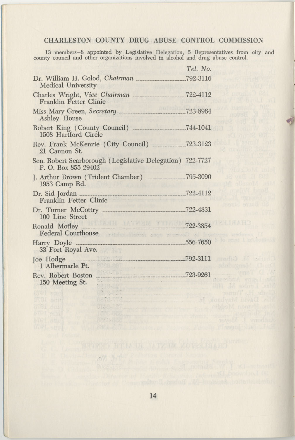 Directory of Public Officials, 1972-1973, Page 14