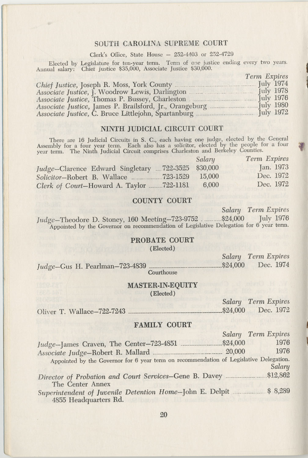 Directory of Public Officials, 1972-1973, Page 20