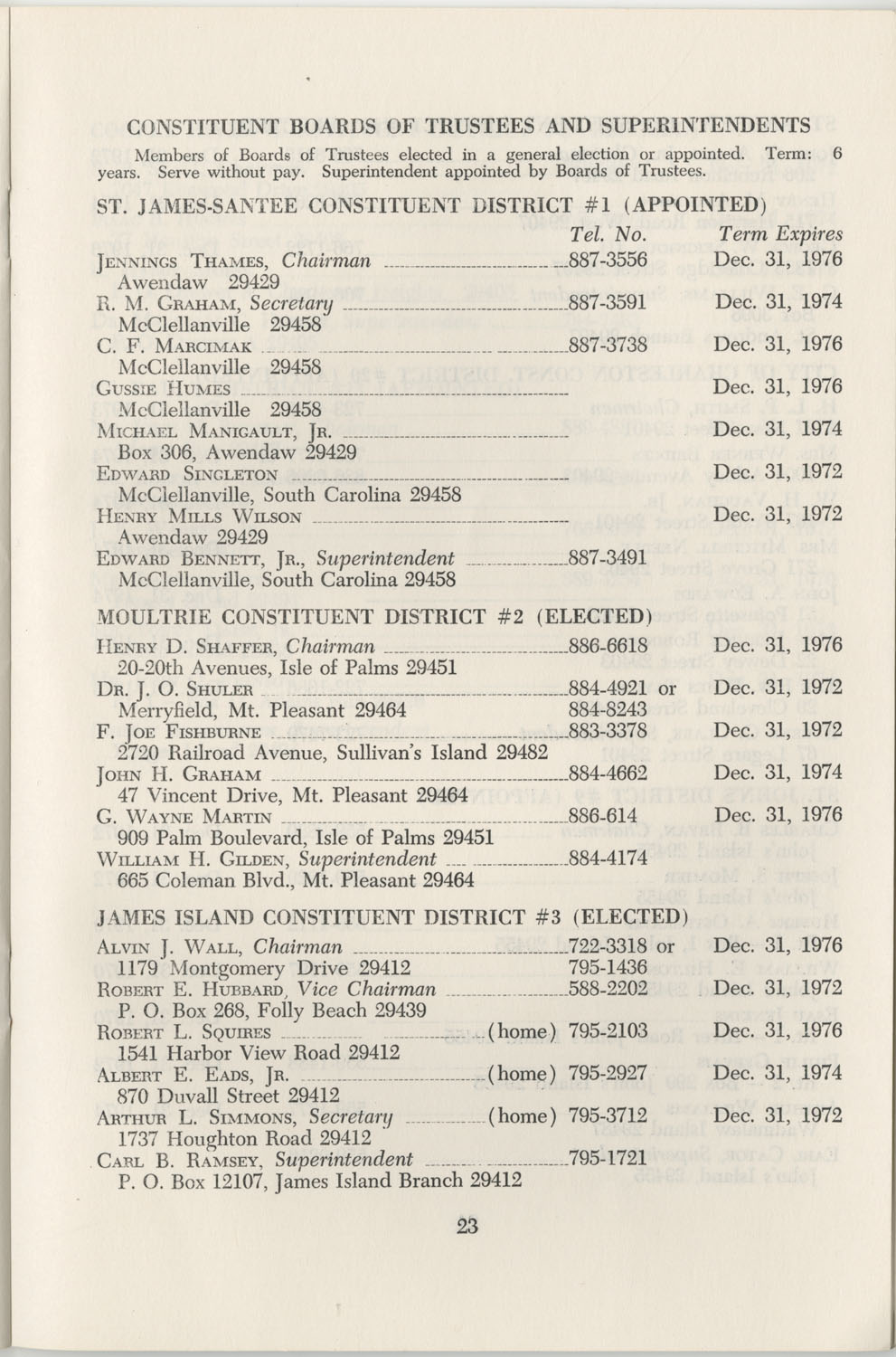 Directory of Public Officials, 1972-1973, Page 23