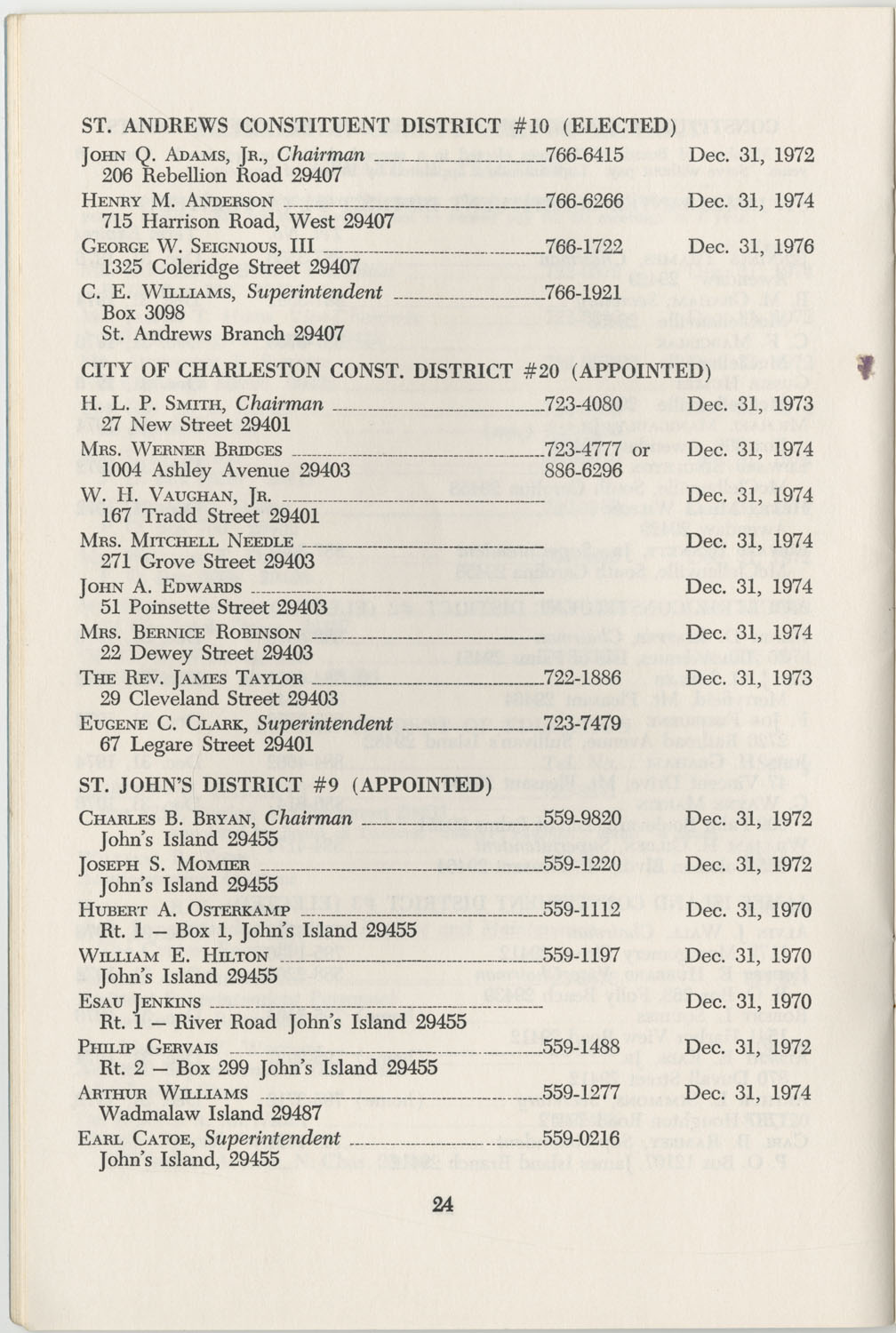 Directory of Public Officials, 1972-1973, Page 24