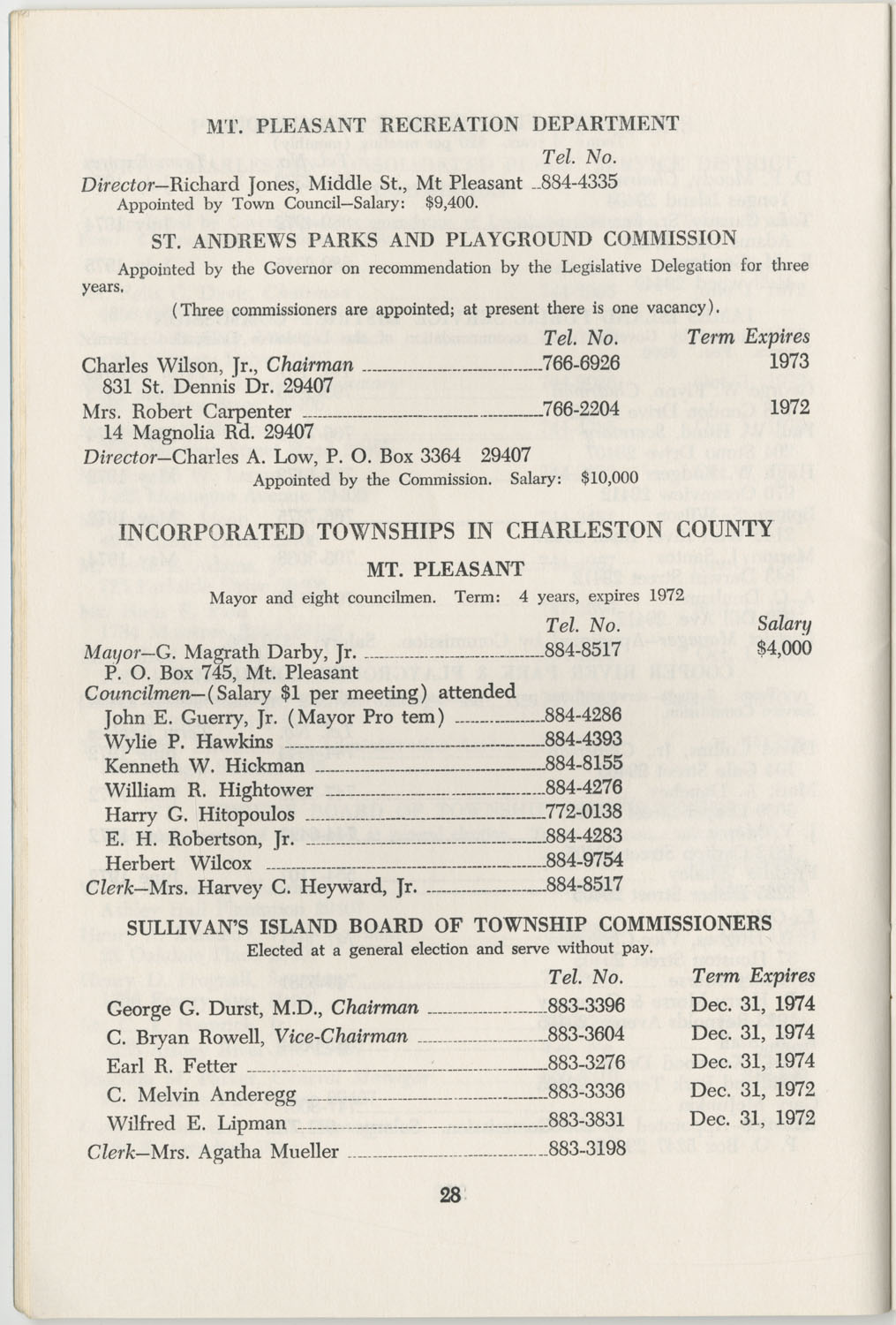 Directory of Public Officials, 1972-1973, Page 28