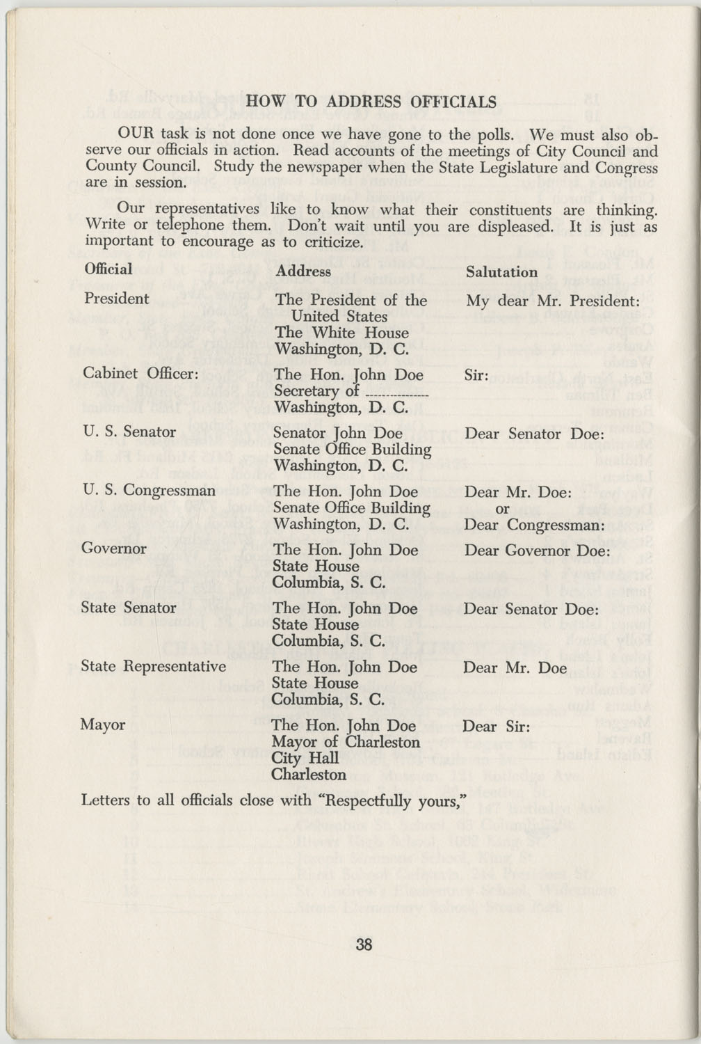 Directory of Public Officials, 1972-1973, Page 38