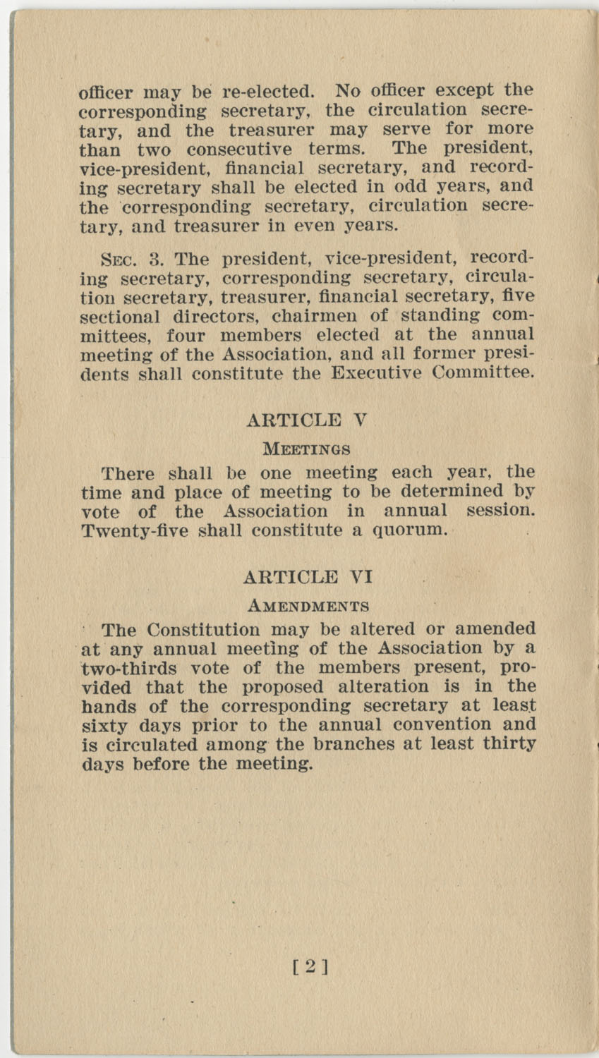 Constitution. National Association of College Women, Page 2