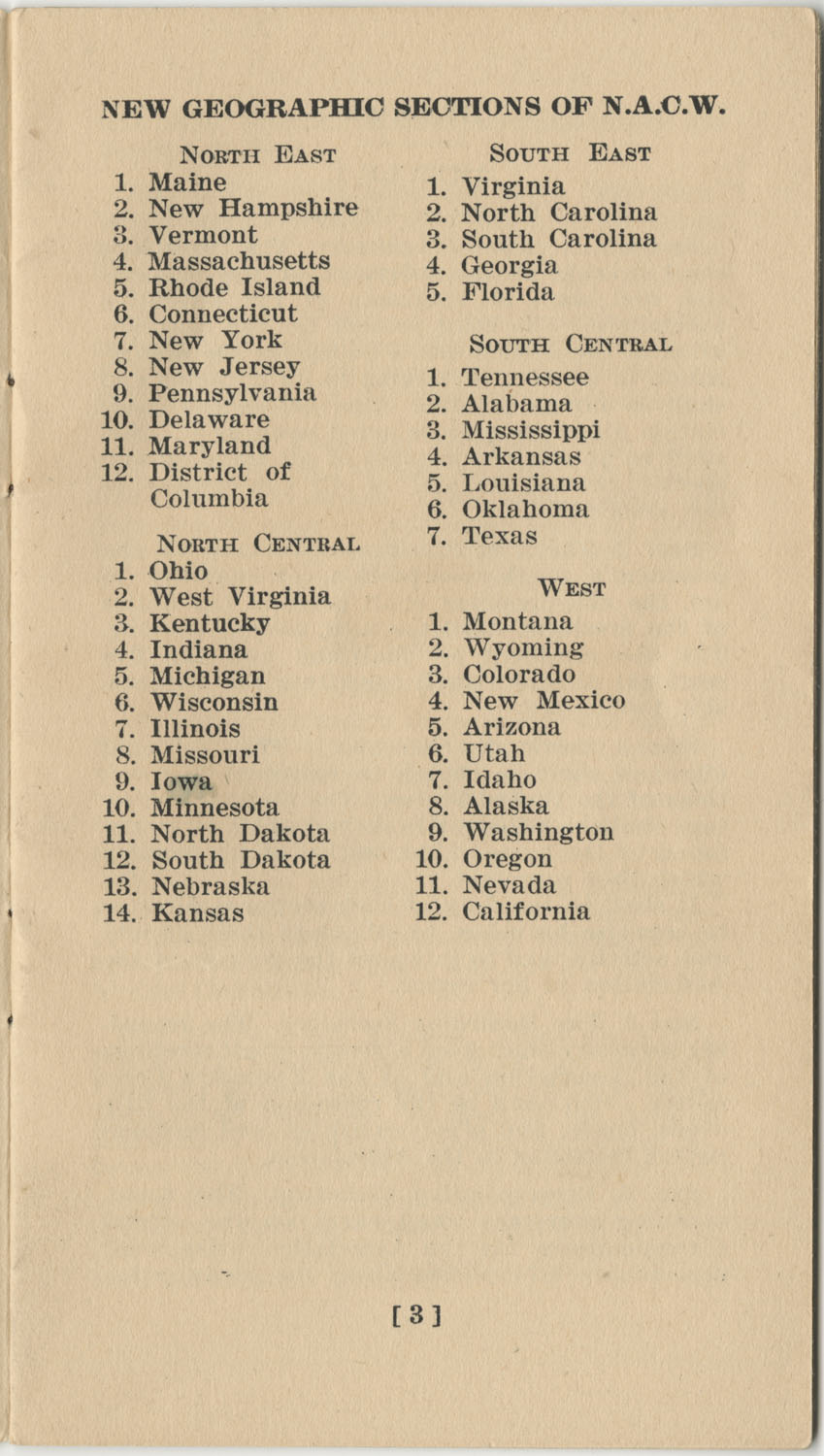 Constitution. National Association of College Women, Page 3