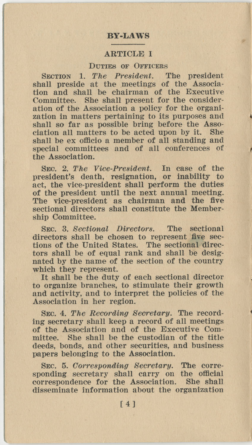 Constitution. National Association of College Women, Page 4