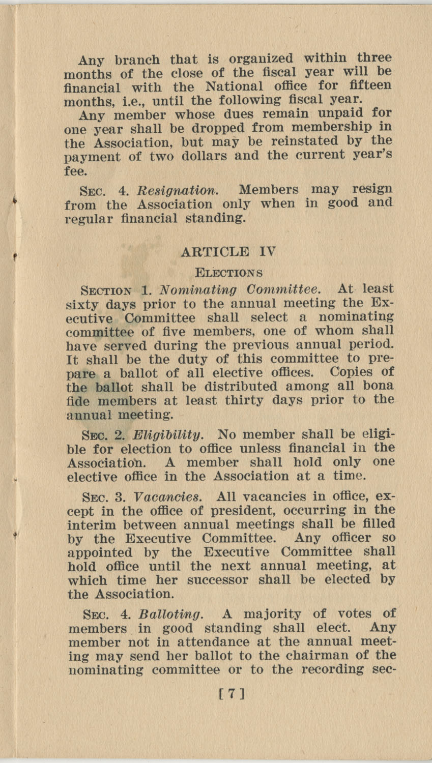 Constitution. National Association of College Women, Page 7