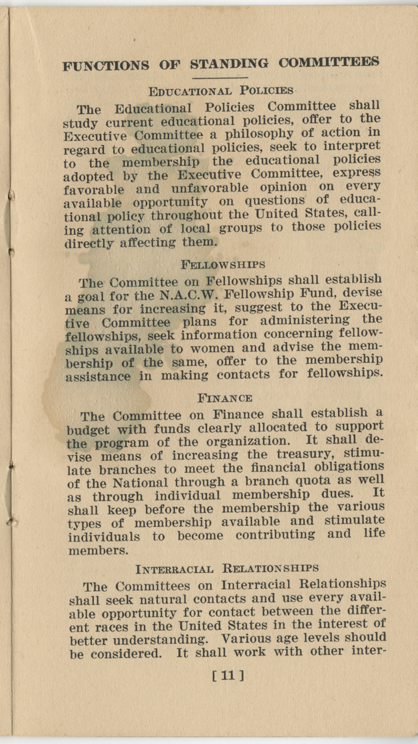Constitution. National Association of College Women, Page 11