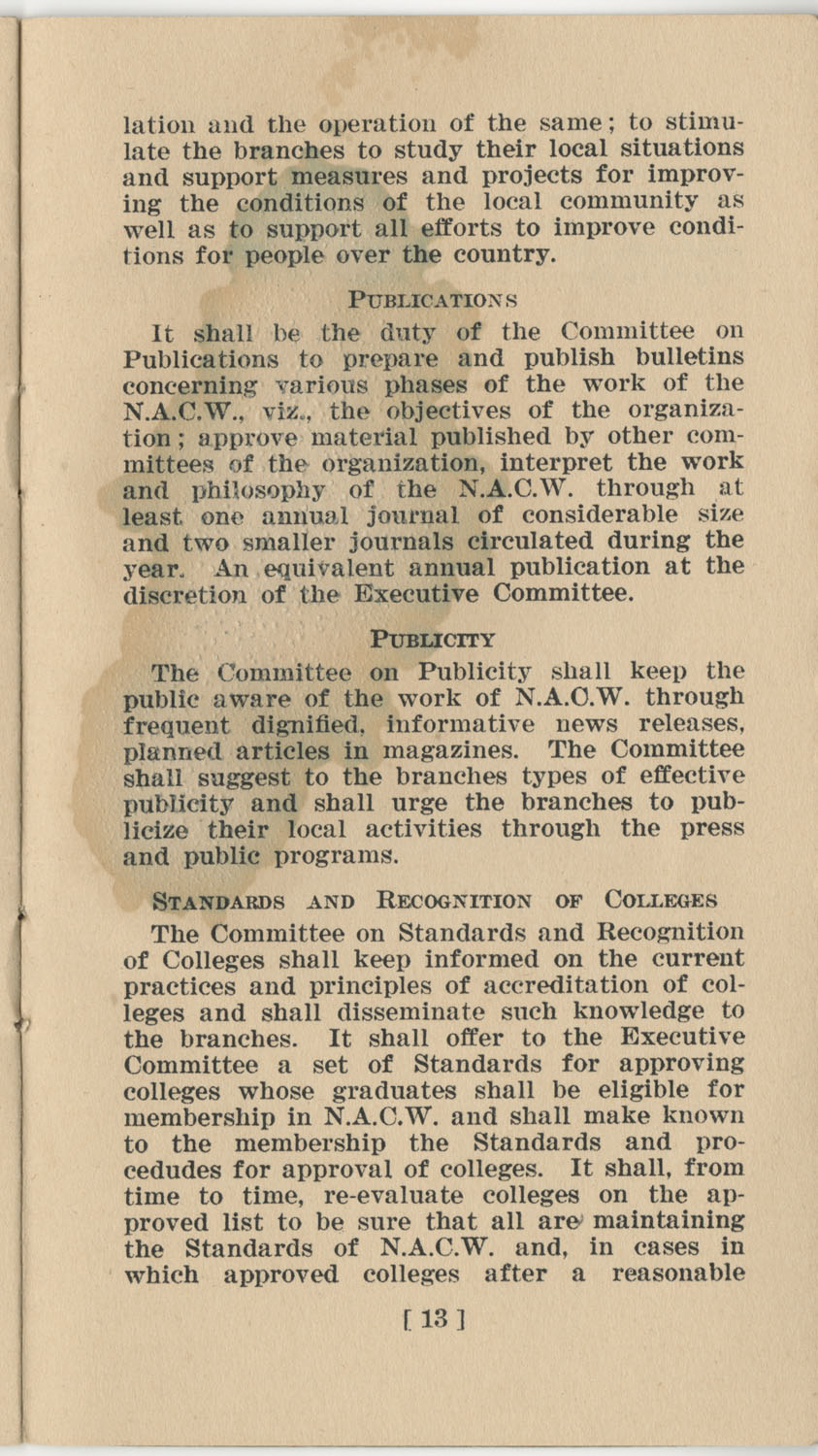 Constitution. National Association of College Women, Page 13