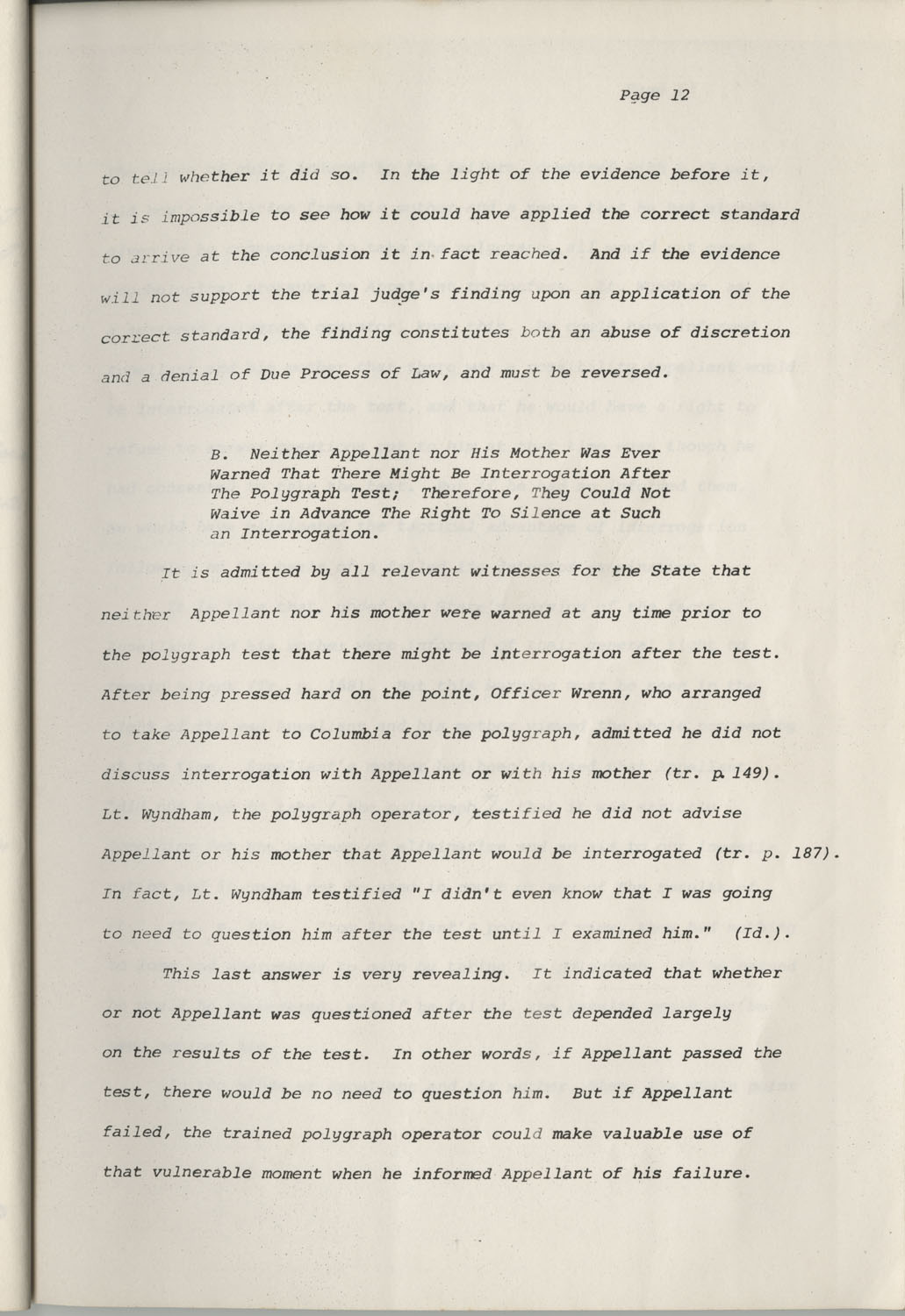 State of South Carolina vs. Robert Lee Smith, Brief of Appellant, Page 12