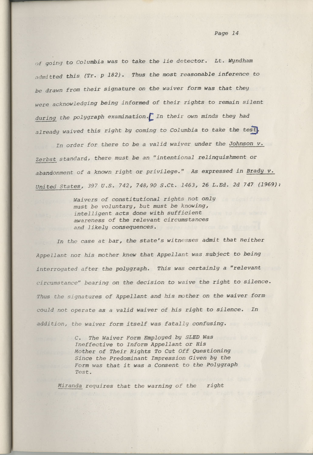State of South Carolina vs. Robert Lee Smith, Brief of Appellant, Page 14